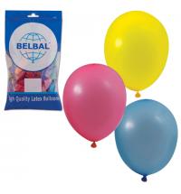 Воздушные шары Веселая Затея 14 цветов 25см, 50шт, в пакете, 1101-0032