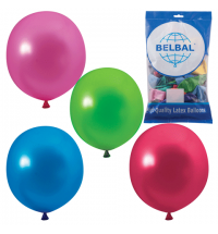 Воздушные шары Веселая Затея 12 цветов металлик 36см, 50шт, в пакете, 1101-0025
