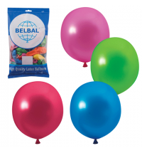 Воздушные шары Веселая Затея 12 цветов металлик 30см, 50шт, в пакете, 1101-0034