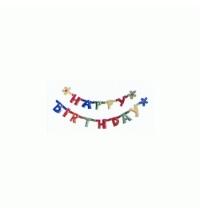 Праздничная гирлянда Herlitz Happy Birthday 1.6м х 11см
