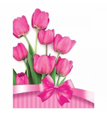 фото: Пакет подарочный Eureka Весенние цветы 18х23см