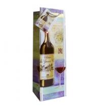 Пакет подарочный для бутылки Eureka Бокал с вином 10х33см