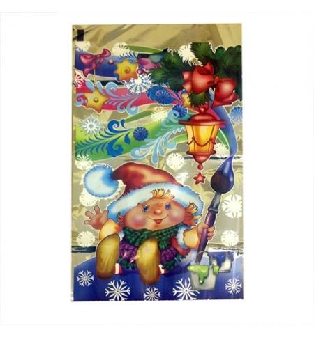 фото: Пакет подарочный Новогодний 25х40см, микс