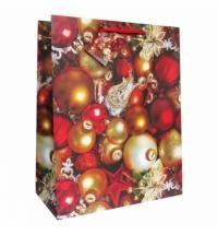 Пакет подарочный Eureka Елочные шары 11x13.5см