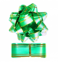 Набор для упаковки подарка Winter Wings зеленый бант с лентой