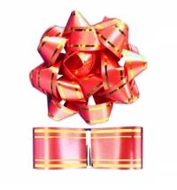 Набор для упаковки подарка Winter Wings красный бант с лентой