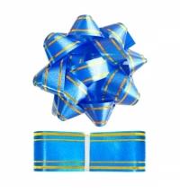 Набор для упаковки подарка Winter Wings синий бант с лентой