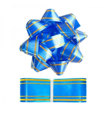 фото: Набор для упаковки подарка Winter Wings синий бант с лентой