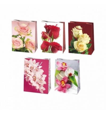 фото: Пакет подарочный Pol-Mak Цветы 29х40см, 5 мотивов ассорти