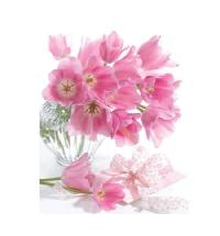 Пакет подарочный Eureka Розовые тюльпаны 18х23см