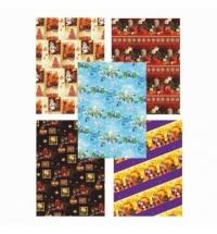 Бумага упаковочная Pol-Mak Новогодняя сказка 99.5х68.5см, ассорти