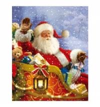 Пакет подарочный Eureka Санта в очках 26x32.5см