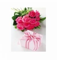 Пакет подарочный Eureka Подарок и розы 26x32.5см