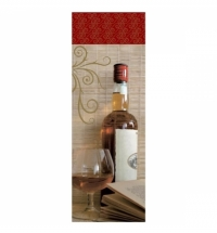 Пакет подарочный для бутылки Eureka Виски 10х33см