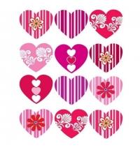 Пакет подарочный Eureka Узор из сердечек 11x13.5см