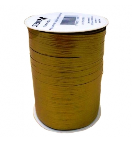 фото: Лента упаковочная Stewo матовая золото двухсторонняя, 1см, 250м