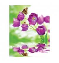 Пакет подарочный Eureka Фиолетовые тюльпаны 11x13.5см