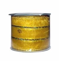 Лента упаковочная золото ассорти 270см