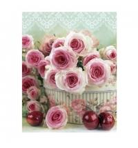 Пакет подарочный Eureka Розовые розы 11x13.5см
