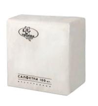 Салфетки сервировочные белые 24х24см, 1 слой, 100шт