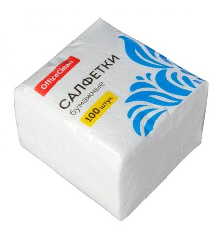 фото: Салфетки сервировочные Officeclean белые 24х24см, 1 слой, 100шт