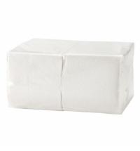 Салфетки сервировочные белые 24х24см, 1 слой, 400шт