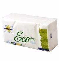 Салфетки сервировочные Мягкий Знак Eco белые 24х24см, 1 слой, 250шт