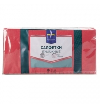 Салфетки сервировочные Metro Professional красные 24х24см, 1 слой, 250шт