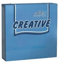 Салфетки сервировочные Aster Creative синие 33х33см, 3 слоя, 20шт