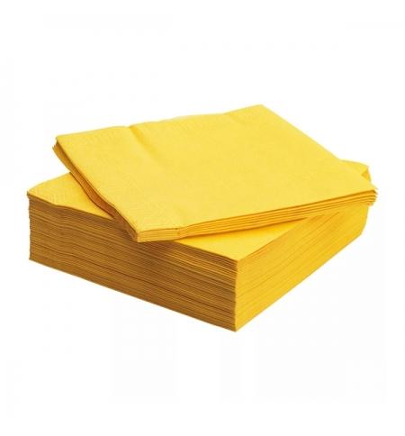 фото: Салфетки сервировочные Интенсив желтые 24х24см, 400шт