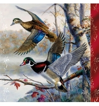 Салфетки сервировочные Pol-Mak Maki Полет птиц 33х33см, 3 слоя, 20шт