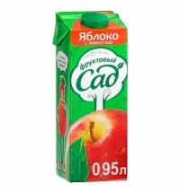 Сок Фруктовый Сад яблоко с мякотью 950мл