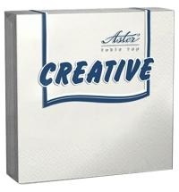 Салфетки сервировочные Aster Creative белые 25х25см, 3 слоя, 20шт