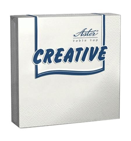 фото: Салфетки сервировочные Aster Creative белые 25х25см, 3 слоя, 20шт