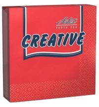 Салфетки сервировочные Aster Creative красные 25х25см, 3 слоя, 20шт