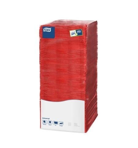 фото: Салфетки сервировочные Tork Universal красные 25х25см, 1 слой, 500шт, 478661