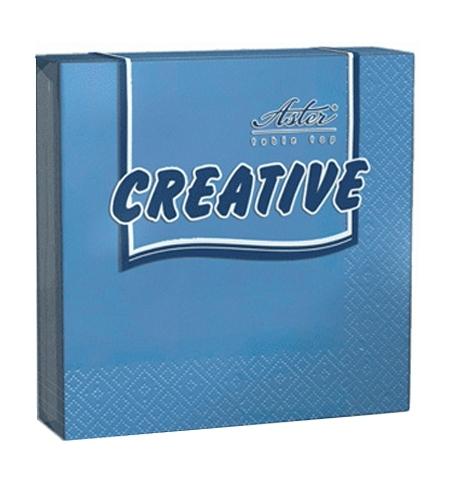фото: Салфетки сервировочные Aster Creative синие 25х25см, 3 слоя, 20шт