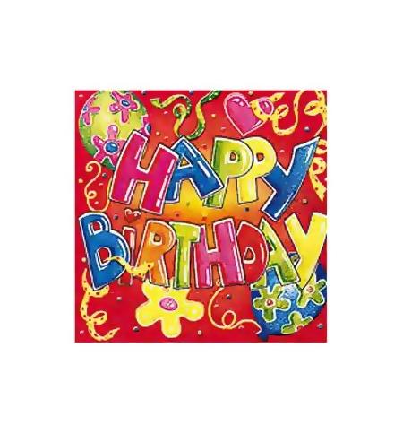 фото: Салфетки сервировочные Herlitz Happy birthday 33х33см, 3 слоя, 20шт