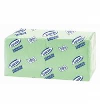 Салфетки сервировочные Luscan Profi Pack салатовые 24х24см, 1 слой, 400шт