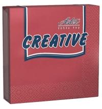 Салфетки сервировочные Aster Creative бордо 33х33см, 3 слоя, 20шт