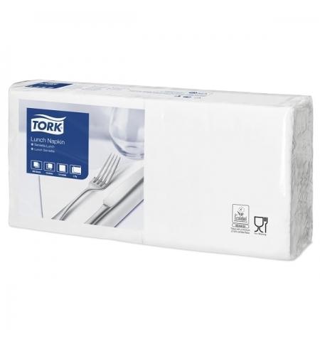 фото: Салфетки сервировочные Tork Advanced белые 33х33см, 2 слоя, 200шт, 477149