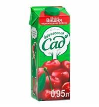 Сок Фруктовый Сад вишня-яблоко-рябина 950мл