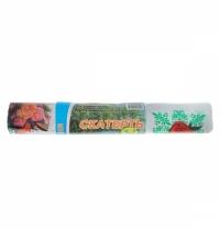 Скатерть из полиэтилена Артпласт Цветы 110х900см с рисунком, в рулоне