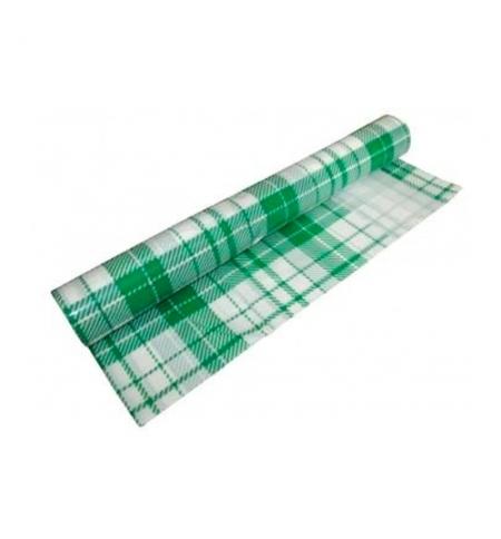 фото: Скатерть из полиэтилена Артпласт Клетка 110х900см в рулоне, зеленая