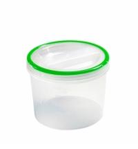 Банка для сыпучих продуктов Phibo Винтаж 1.2л пластик, с закручивающейся крышкой