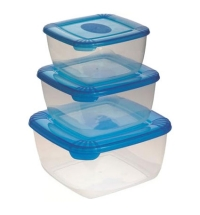 Набор контейнеров Polar 2.5л+1л+0.5л пластик, с плотно прилегающей крышкой, 3шт/уп