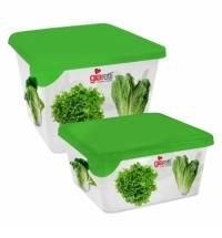 Контейнер для продуктов Giaretti 450мл х 750мл зеленый, с крышкой