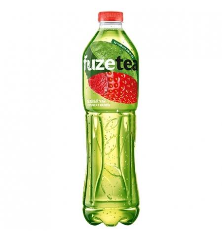 фото: Чай холодный Fuze Tea клубника-малина зеленый, ПЭТ, 1.5л