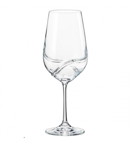 фото: Бокал для вина Bohemia Crystal Turbulence 550мл 2шт/уп