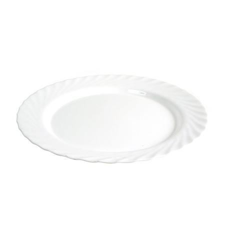 фото: Тарелка обеденная Luminarc Trianon белая d 24.5см